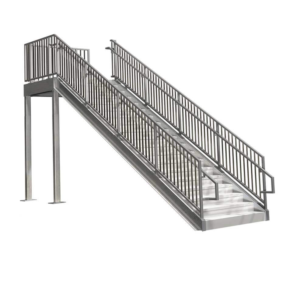 CommercialStairs Hero2 Grey 8ft