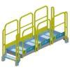 Stair, Platform, OSHA, Yellow, Aluminum